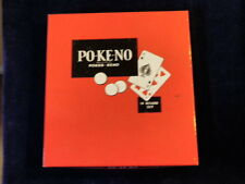 Vintage Po-Ke-No Game Combination Of Poker + Keno with 12 Cards + Many Chips A72