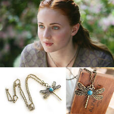 Free Shipping Game of thrones inspired Sansa Stark Dragonfly Necklace