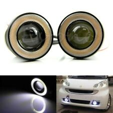 "White 15W 3"" Car Led Daytime Running Lights Fog Angle Eye For All Car"