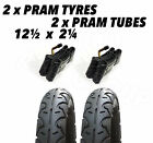 2x Pram Tyres & 2x Tubes 12 1/2 X 2 1/4 Slick Urban Detour Happy Baby City Buggy