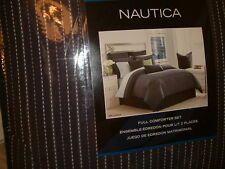 NAUTICA BELLE ISLE BLUE STRIPE FULL   9 PC COMFORTER SHAMS SHEETS BEDSKIRT