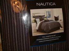 NAUTICA BELLE ISLE BLUE STRIPE FULL   9 PC COMFORTER SHAMS SHEETS BEDSKIRT