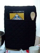 BLACK Quilted Kitchen aid TILT Bowl Stand Mixer Cover 2 POCKETS 4.5 qrt - 5