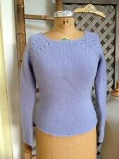 Ann Taylor PERIWINKLE Blue 100% CASHMERE Sweater XS 4 6