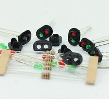 JTD17 10 sets Target Faces With LEDs for Railway signal HO OO TT Scale 2 Aspects