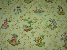 """~BTY~VERVAIN """"AKIRA"""" ASIAN ORIENTAL~COTTON DRAPERY UPHOLSTERY FABRIC FOR LESS~"""