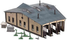 Faller 3 Road Engine Shed with Motorised Doors AND  x 3 Motors 120277 HO Scale