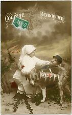 GUERRE. CHIEN SANITAIRE. CROIX ROUGE. RED CROSS. DOG.