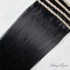 "22"" 100% Human Hair 3M Seamless Tape-in Extensions Remy #1B (Jet Black)"