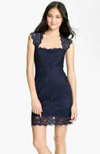 $420 Auth New Designer Nicole Miller Stretch Lace Club Cocktail Eva Dress L USA