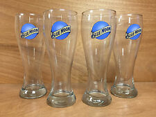 Blue Moon Brewing 22oz Super Pilsner Beer Glass - Set of 4 Glasses - New