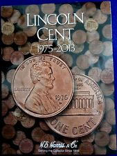 HE Harris Lincoln Cent #3 1975 - 2013 Coin Folder, Penny Album Book #2674