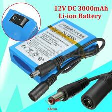 DC-12300 12V DC 3000mAh Super Rechargeable Portable Li-ion Battery For CCTV
