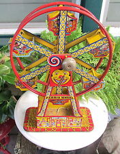 WONDERFUL OLD CHEIN  HERCULES TIN LITHO WIND UP FERRIS  WHEEL