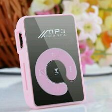Mini Clip Mp3 Player Sport Mirror Mp3 SD/TF Card C Button MP3 Music Media