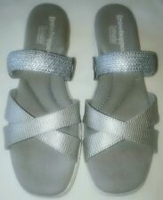 Grasshoppers Ortholite Finley Women's 8 1/2 8.5 Silver Metallic Sandals GUC used