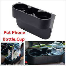 Car Truck Van Wedge Seat Phone 2 Cup Holder Drink Bottle Mount Stand Orangize ×1