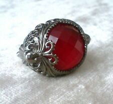 Stephen Webster sterling silver red quartz Octopus baroque cocktail ring size 7