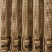 Country Shades Of Brown Shower Curtain Brown, Tan 72x72 Cotton