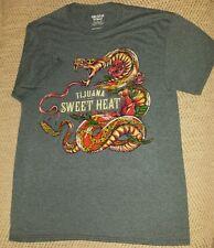 Tijuana Brand Sweet Heat tshirt. new. blue, snake, rose