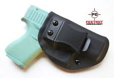 Glock 43 Conceal Carry IWB Black Kydex Holster Right Hand