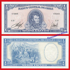 CHILE 1/2 Medio escudo 1962-1975 Pick 134A   SC /  UNC