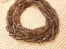 "Genuine 13"" Beautiful Smokey Quartz faceted Rondelle gemstone beads 3mm- 3.5mm."