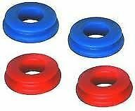 POLY GLAD HAND SEALS (4 PC) RED & BLUE  KIT - TRUCK-TRAILER