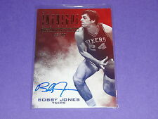 2013-14 Panini Intrigue BOBBY JONES #16 Red/White/Blue Autograph/99 76ers - UNC