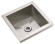 Elkay Asana EFL1515, 16 Inch Top Mount Stainless Steel Lavatory Sink