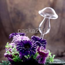 Glass Plant Flowers Water Feeder Self Watering Mushroom Design Plant Waterer