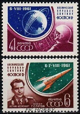 USSR Russia 1961 Mi 2521-22A ** Kosmos Cosmos Space Weltraum Cosmonauts