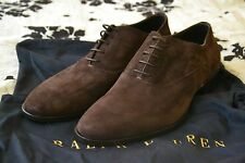 Purple Label $650 Ralph Lauren Collection Gosforth Calf Suede Leather Italy 10 E