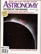 Astronomy Magazine November 1991, Eclipse of the Decade, Leonids, Andromeda