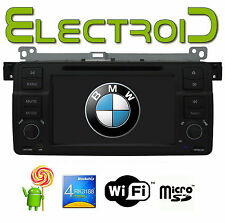 "AUTORADIO 7"" ANDROID 1 SINGLE DIN SPECIFICA PER BMW E46 1998-2005 GPS DVD CANBUS"