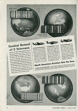 1945 North American Aviation Ad B-25 Mitchell Bomber P-51 Mustang Fighter AT-6