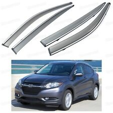 Car Front & Rear Window Visor Deflectors Vent Shade for Honda HR-V 2015-2016 Up