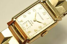 10K GOLD FILLED WITTNAUER ( LONGINES ) VINTAGE WRIST WATCH Ticking
