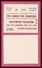 The Ohio State University Buckeyes Football  Rose Bowl 1971 DINNER FOR CHAMPIONS
