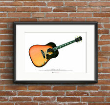 George Harrison's 1962 Gibson J-160E guitar ART POSTER A2 size