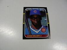 Chico Walker 1987 Donruss ROOKIE CARD #539