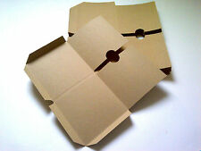 10 Brown recycled card Double CD sleeves/wallets (Flat)