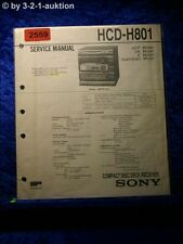 Sony Service Manual HCD H801 Component System (#2559)