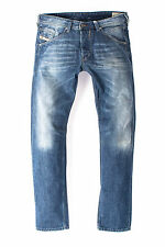 DIESEL W31 L32 Men's BELTHER 0R83P Faded Slim Tapered Fit Jeans - From POPPRI