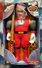 POWER RANGERS NINJA STORM ELECTRIC SOUNDS RED WIND POWER RANGER SOFT PLUSH NEW