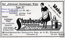 Aspirapolvere Waku Chemnitz la pubblicità di 1926 Vacuum Cleaner ad Cameriera Maid