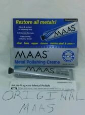 1 Maas Metal Polishing Creme 2oz Tube #91403 ALL METALS Silver Glass Copper Gold