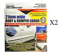 21mm trim strip car body side door bumper guard protector self adhesive 5M   X2