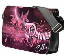 Girls School / College Bag Personalised with your name Large Messenger Bag DREAM