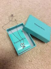 Auth Tiffany Sterling Silver loving heart necklace